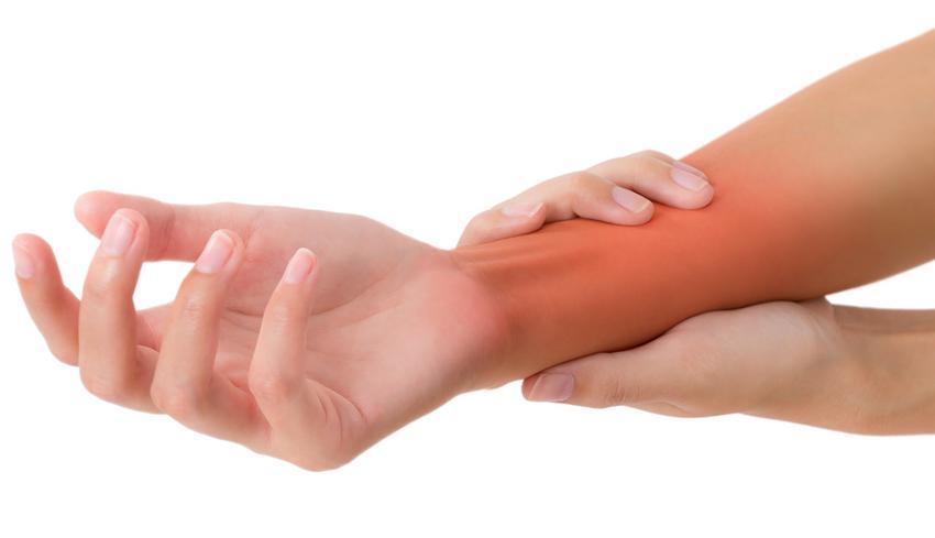 izomfájdalom a jobb kezén