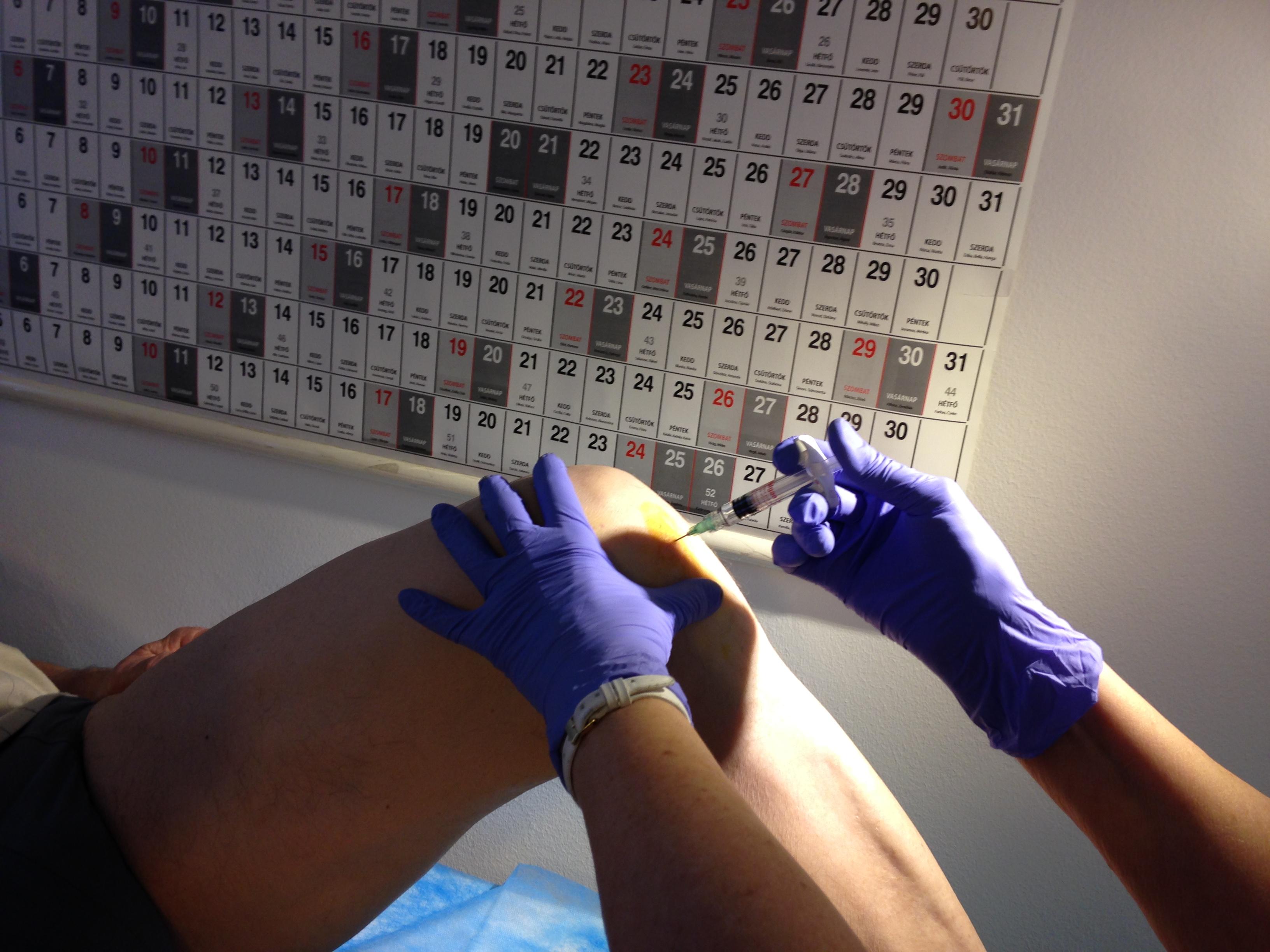 injekció fájdalom térdízület)