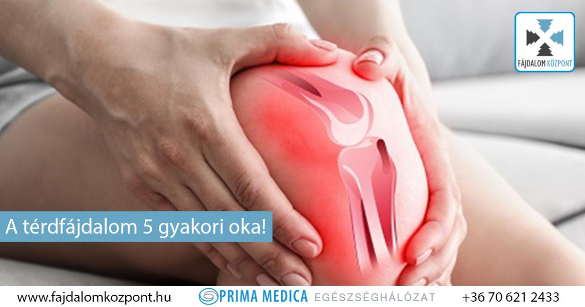 térdízület duzzanata és súlyos fájdalom)